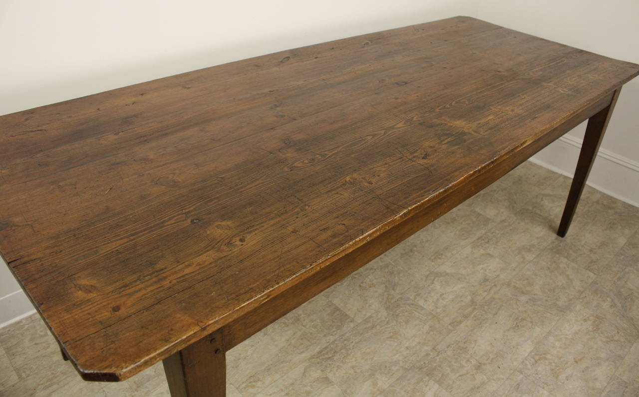 Antique French Pine Farmhouse Table at 1stdibs