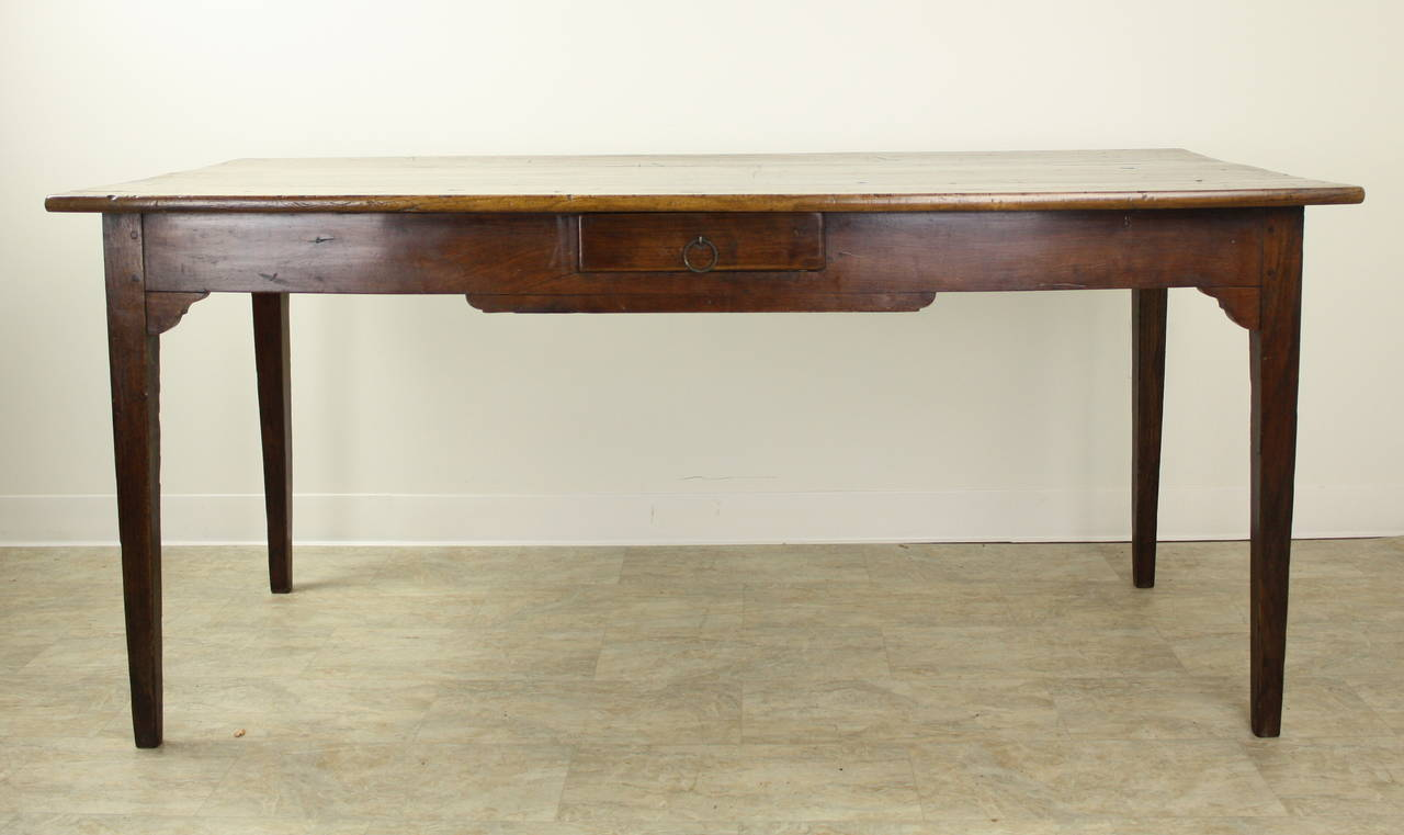 Small Antique Cherry Farm Table at 1stdibs
