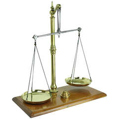 Antique English Beam Scale and Weights