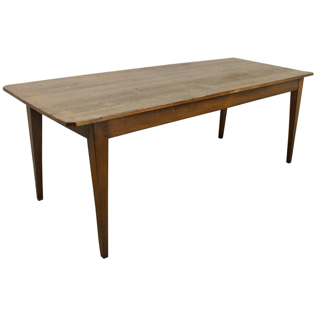 Antique french pine farmhouse table at 1stdibs for Pine dining room table
