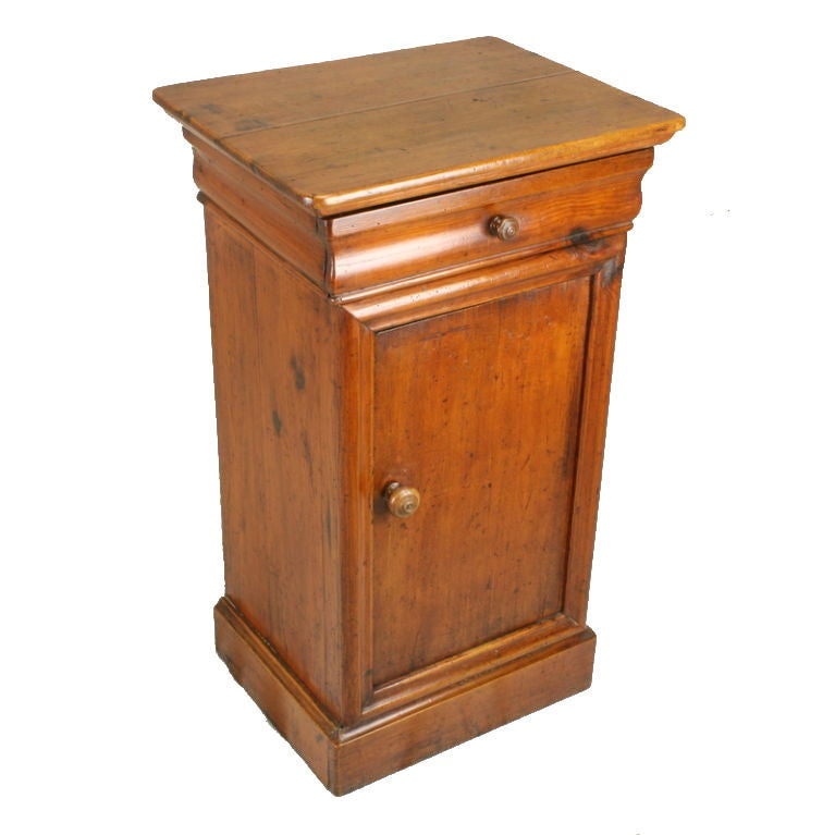 Antique French Pine Cupboard - Small Antique Danish Pine Cupboard, Nightstand For Sale At 1stdibs