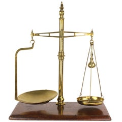 Large Antique English Scales and Weights