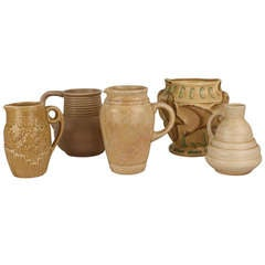 Attractive Grouping of Pale English Vintage Pottery
