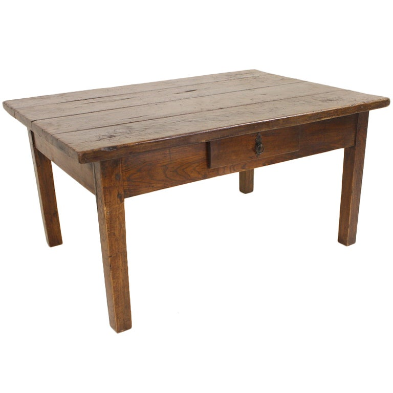Thick Top Antique French Walnut Coffee Table At 1stdibs