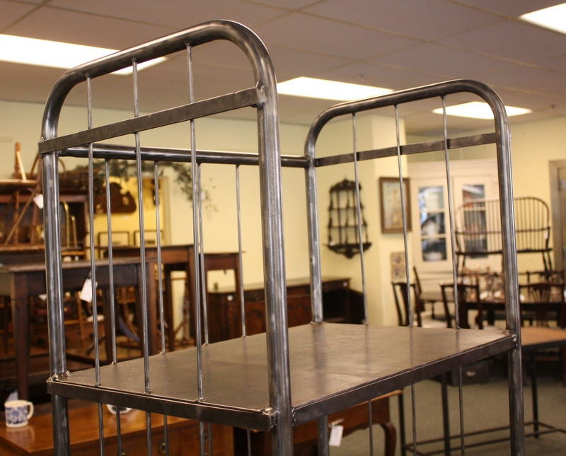 Tall Four Tiered French Industrial Steel Trolley At 1stdibs