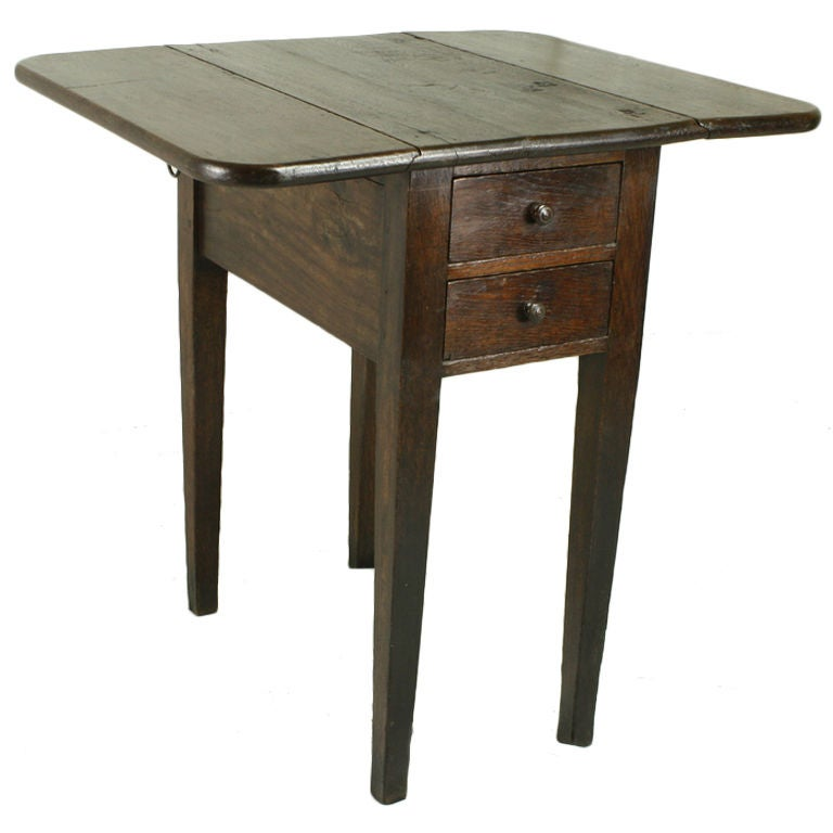 Small antique french drop leaf side table at 1stdibs for Small drop down desk