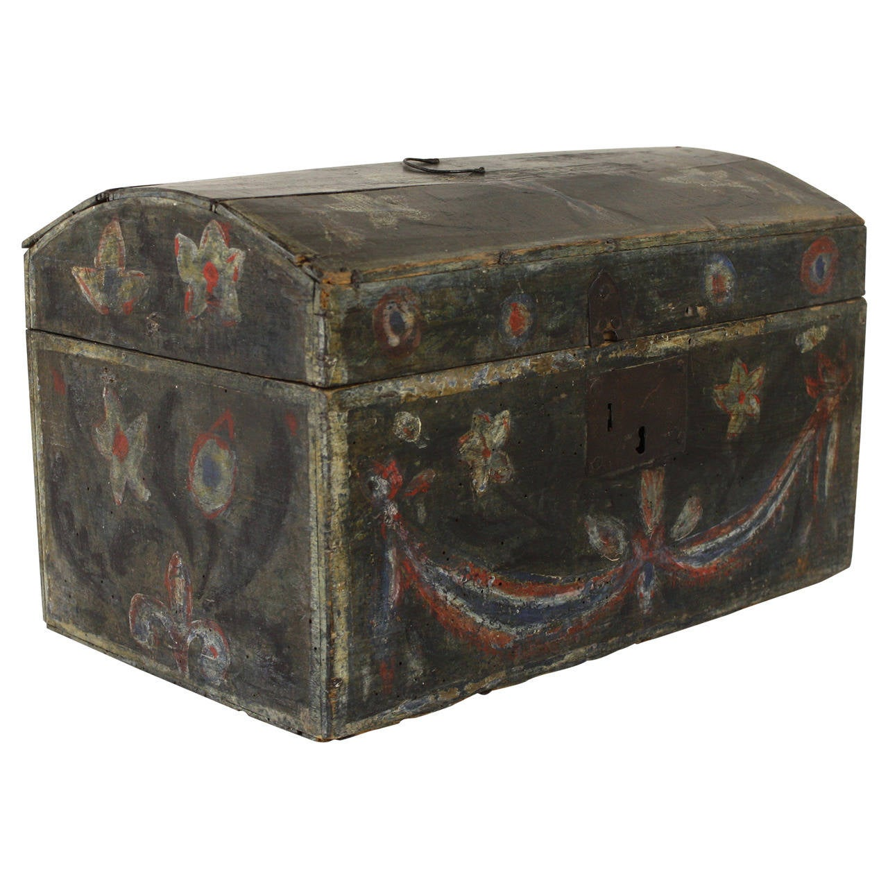 Antique French Painted Wedding Box