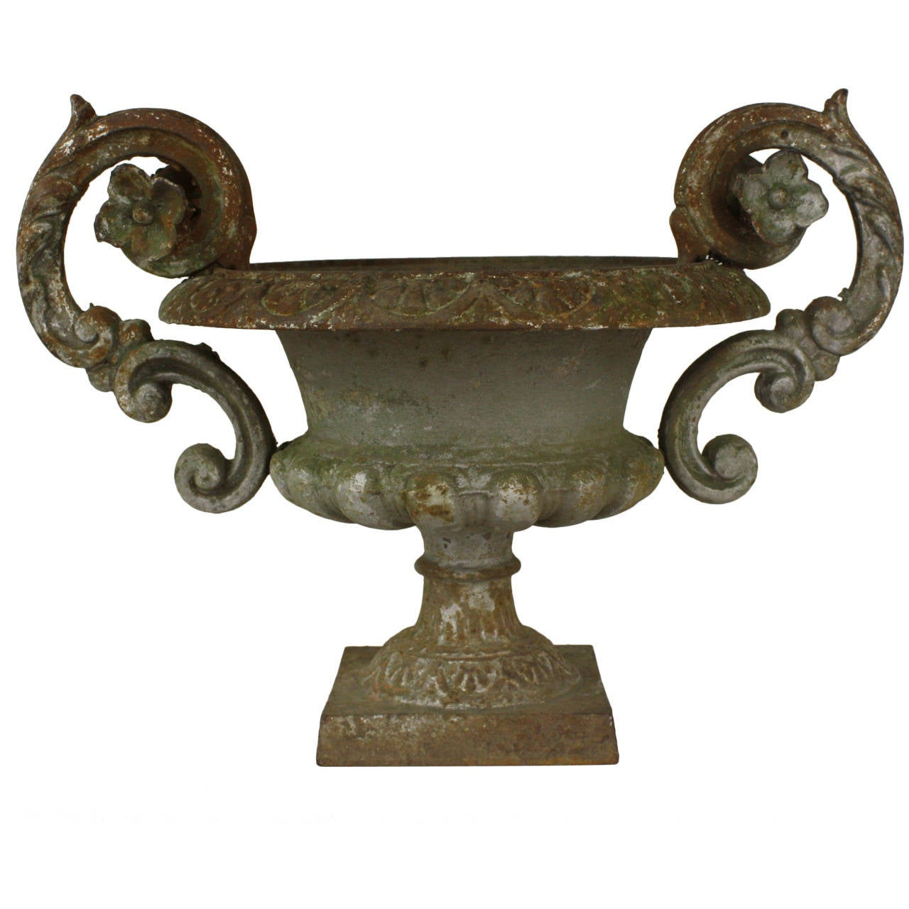 Antique French Cast Iron Planter For Sale