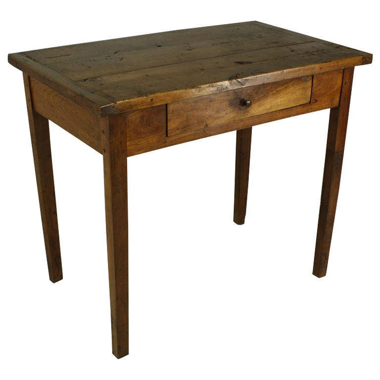 Antique french cherry side table desk at 1stdibs for Cherry side table