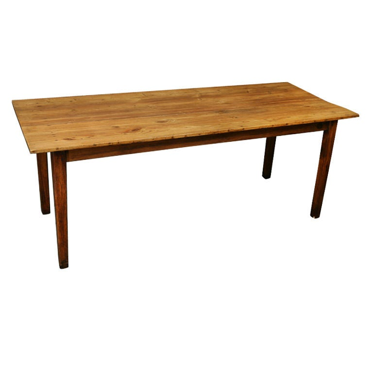 Rustic Antique French Pine Farm Table At 1stdibs