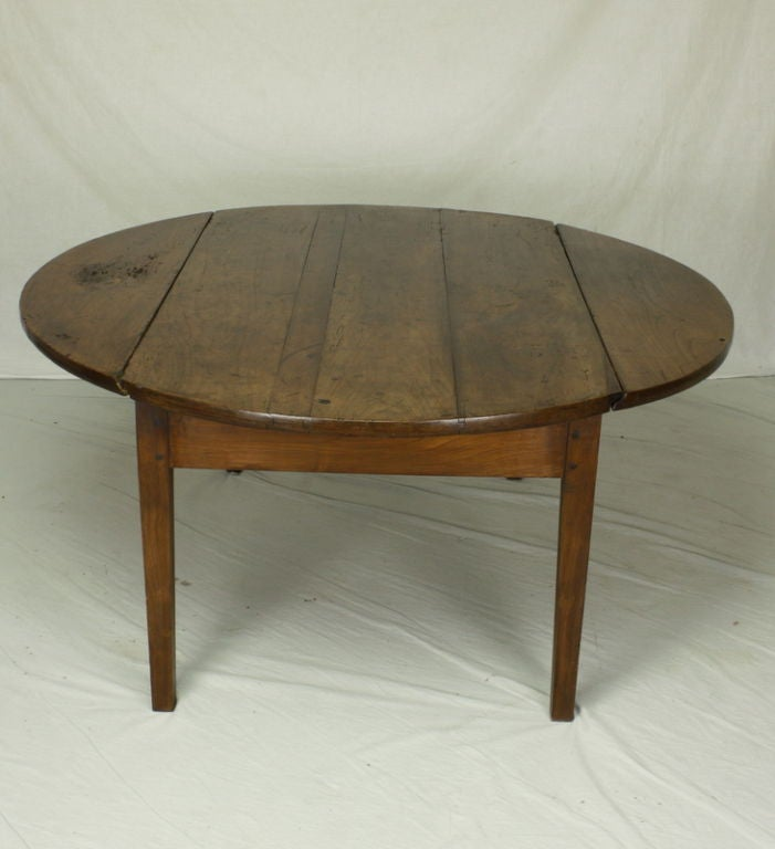 Antique French Cherry Drop Leaf Coffee Table At 1stdibs