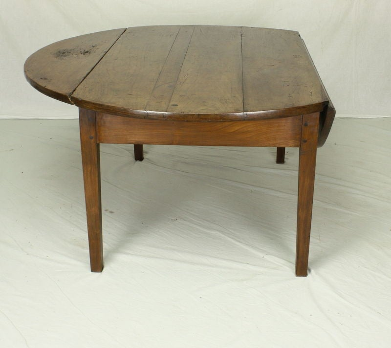 Antique French Cherry Drop-Leaf Coffee Table At 1stdibs