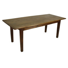 French Antique Cherry Country  Farm Table