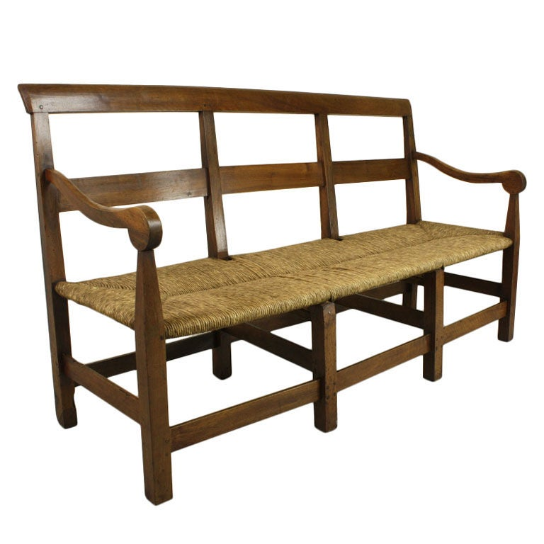 Antique French Walnut Bench At 1stdibs
