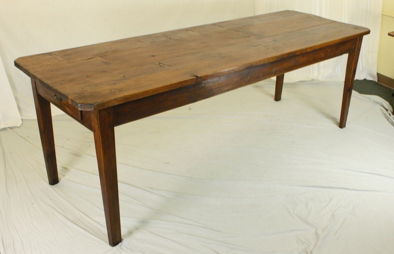 Long Antique French Pine Farm Table 2
