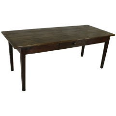 Antique French Oak Country Farm Table