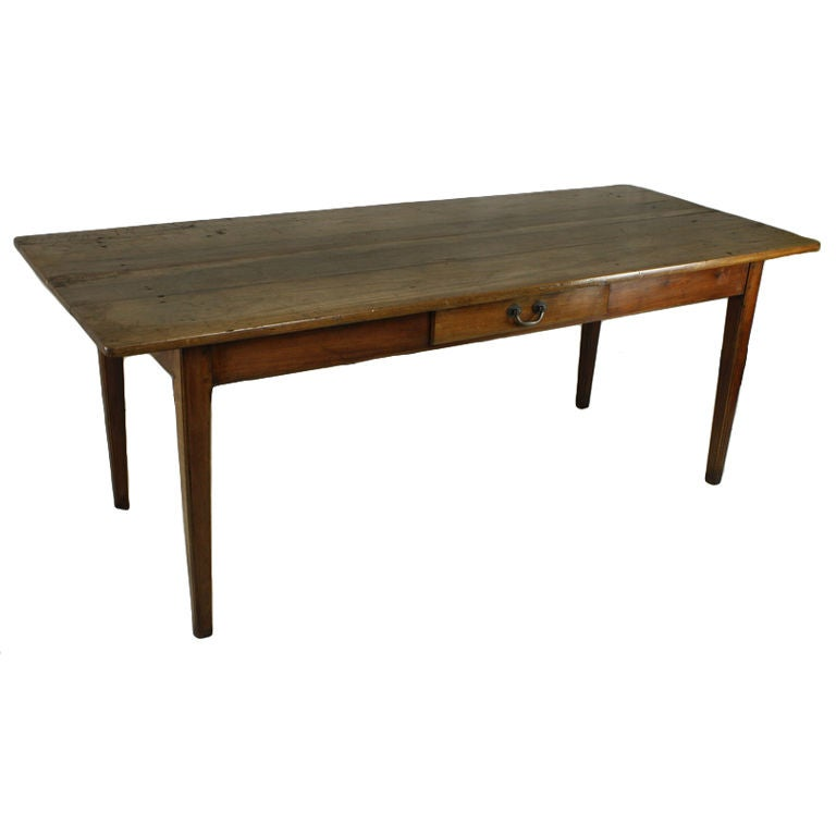 This antique french cherry side table is no longer available - Antique French Cherry Country Farm Table At 1stdibs