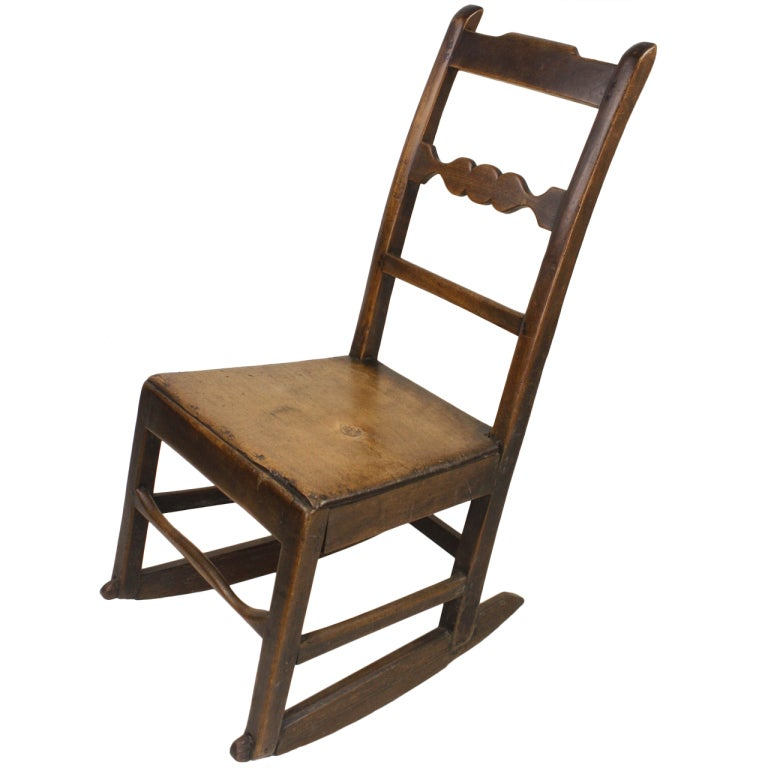 antique english rocking chair for sale at 1stdibs. Black Bedroom Furniture Sets. Home Design Ideas