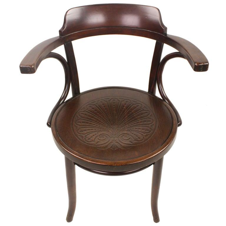 antique thonet armchair at 1stdibs. Black Bedroom Furniture Sets. Home Design Ideas