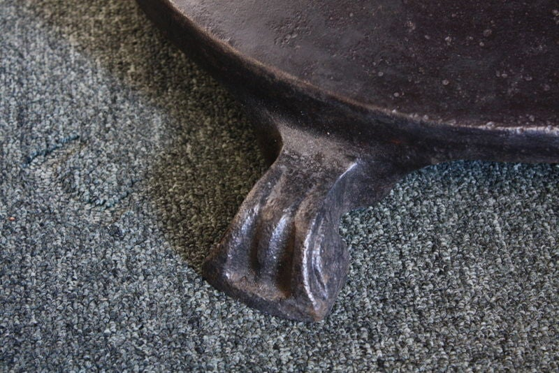 French Industrial Steel Round Dining Table 3
