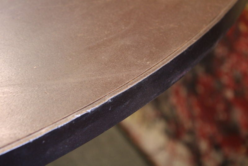 French Industrial Steel Round Dining Table 2
