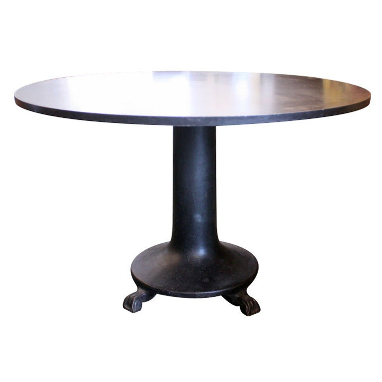 french industrial steel round dining table at 1stdibs