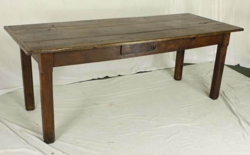 Early Oak French Country Farm Table 2