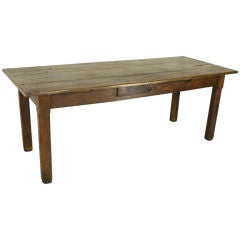 Early Oak French Country Farm Table