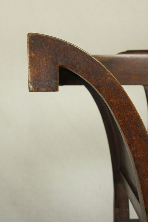 Antique Carved French Walnut Bench, Rush Seat For Sale 2