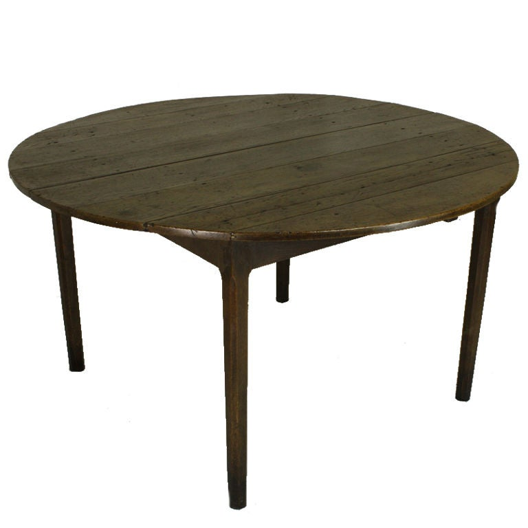 Antique French Round Oak Dining Table At 1stdibs