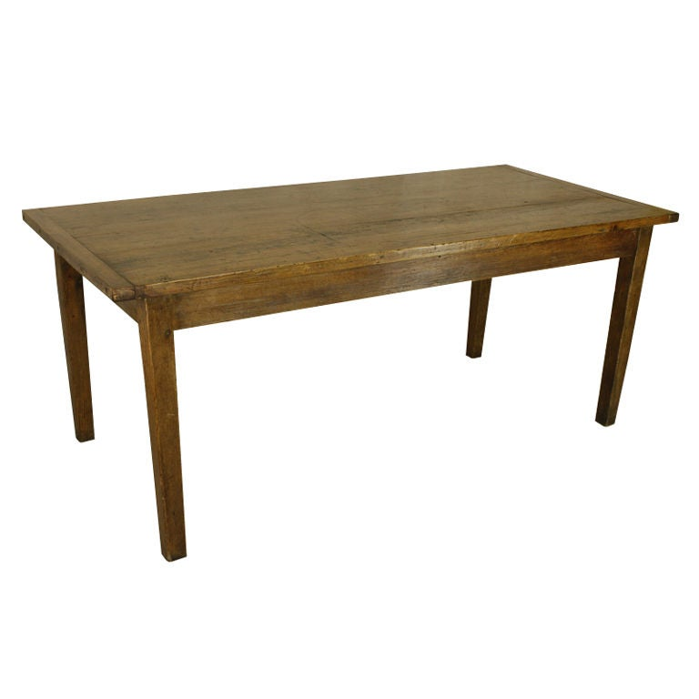 English fruitwood and pine antique dining table at 1stdibs for Pine dining room table