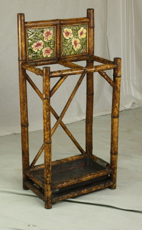 Antique English Bamboo Umbrella Stand At 1stdibs