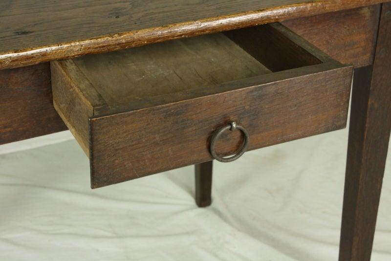 French Antique Oak Side Table/Desk 3