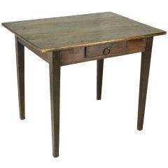 French Antique Oak Side Table/Desk
