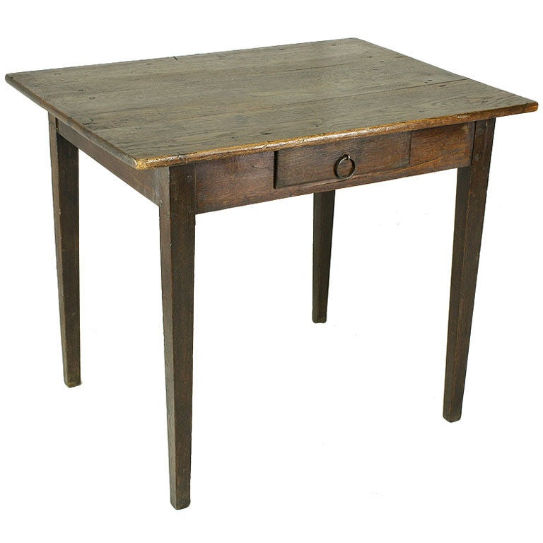 French Antique Oak Side Table/Desk 1 - French Antique Oak Side Table/Desk For Sale At 1stdibs
