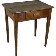 Small Antique French Cherry Side Table