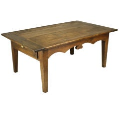 Antique French Coffee Table, Shaped Apron