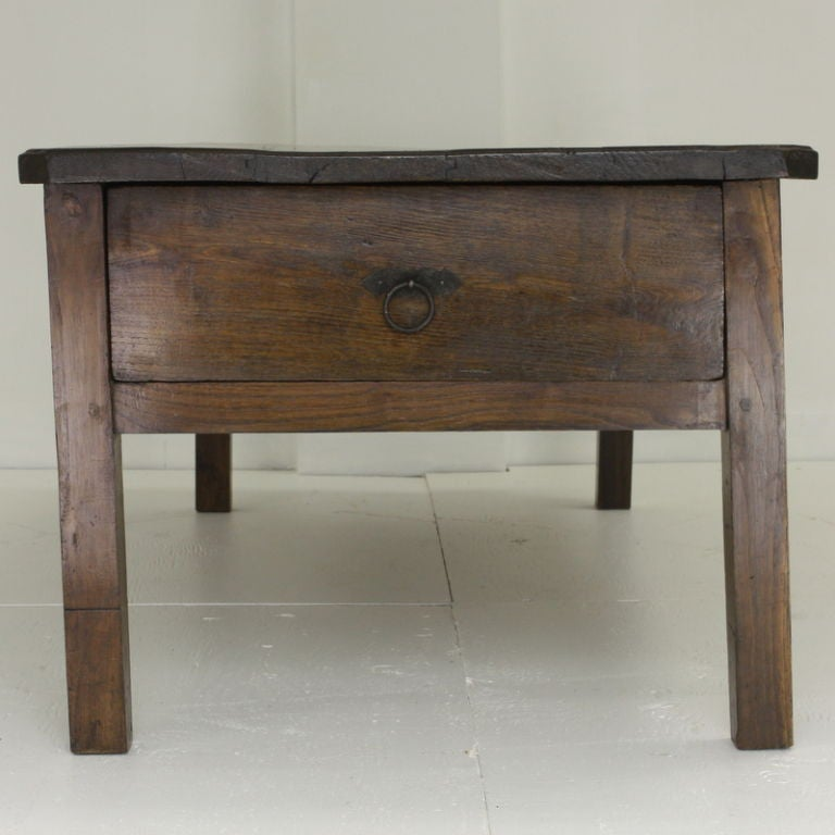 Large French Coffee Table: Large Antique French Chestnut Coffee Table At 1stdibs