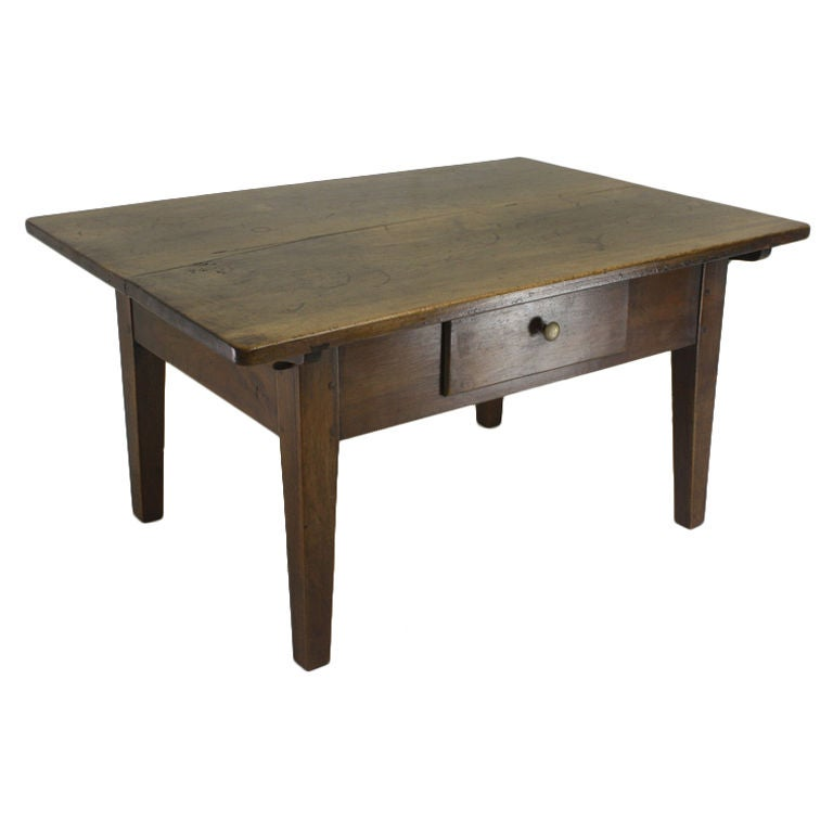 Small French Antique Fruitwood Coffee Table At 1stdibs
