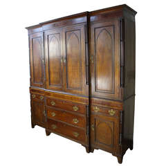 Extraordinary Welsh Period Oak and Mahogany Housekeeper's Cupboard