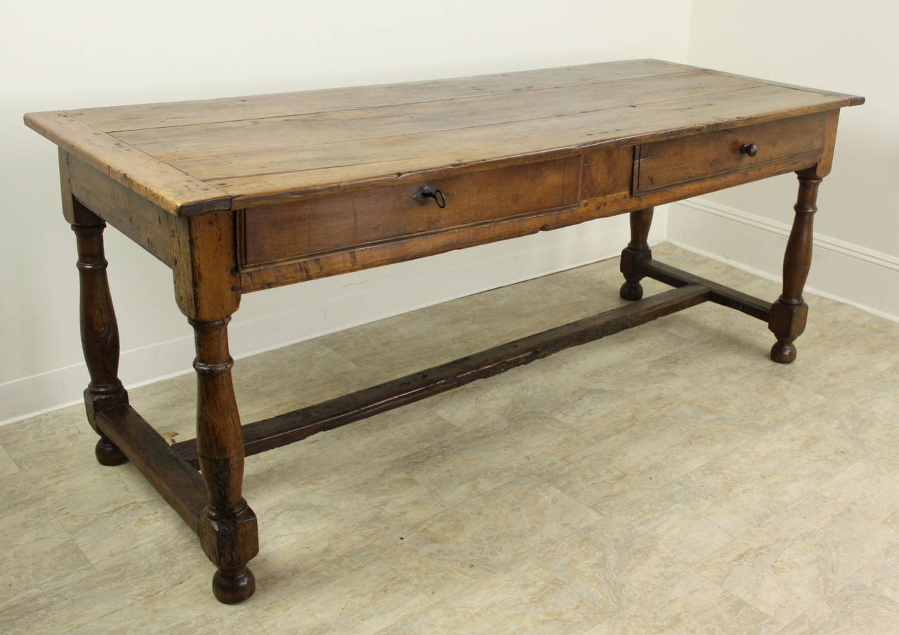 French Antique 17th Century Louis XIII Cherry Dining Table For