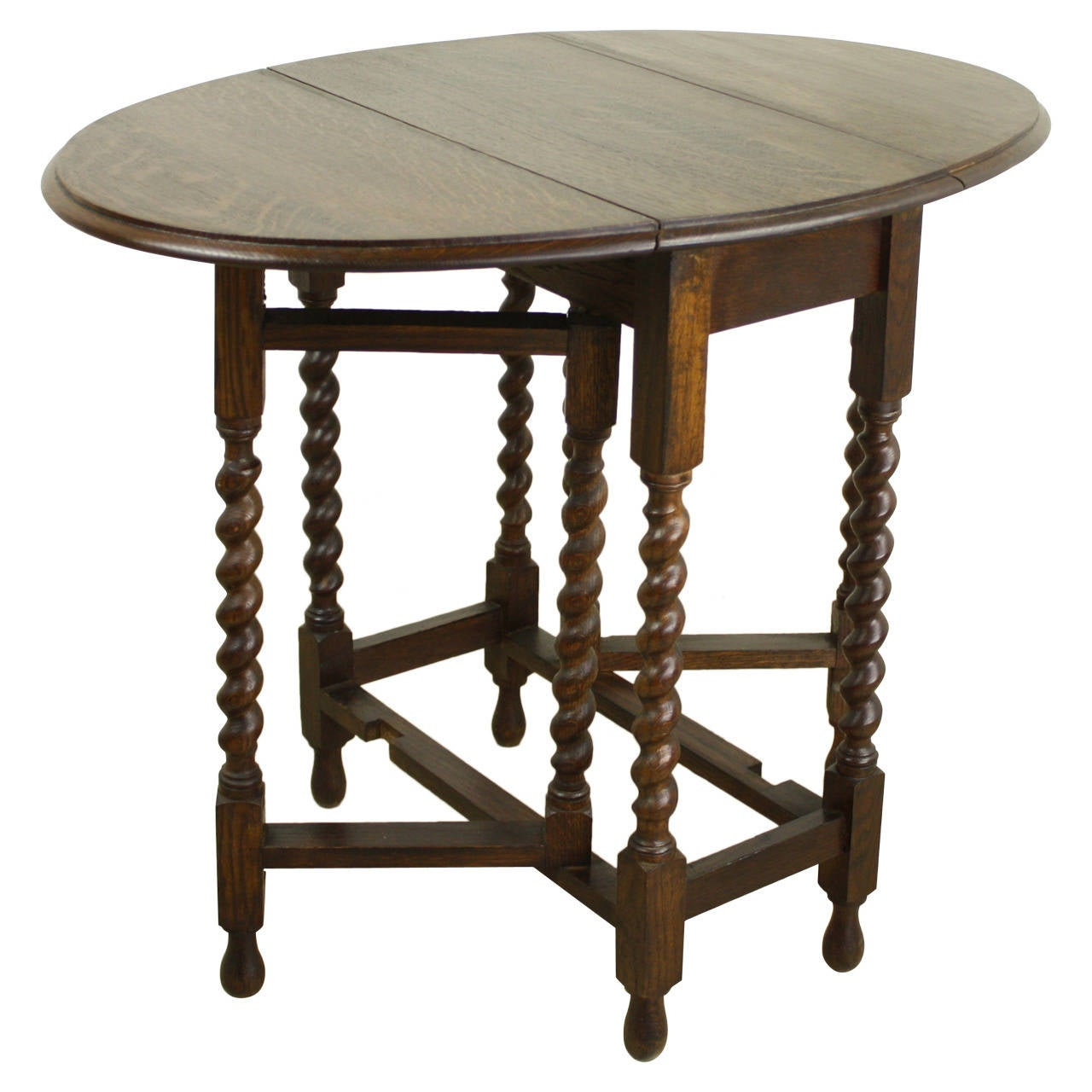 this small antique english barley twist gateleg table is no longer