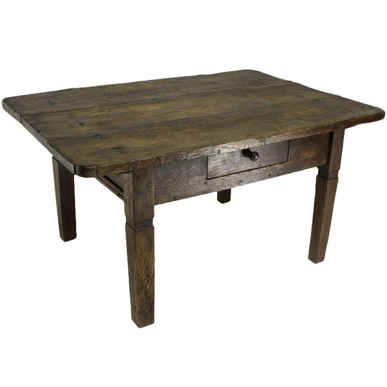 Small Rustic Antique Coffee Table At 1stdibs
