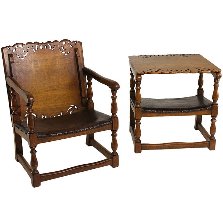 Pair of Vintage English Oak Metamorphic Chairs For Sale - Pair Of Vintage English Oak Metamorphic Chairs For Sale At 1stdibs