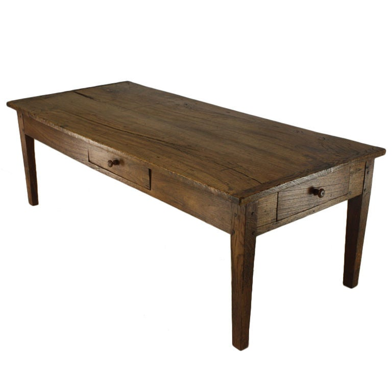 Large French Coffee Table: Large Antique French Poplar Coffee Table At 1stdibs