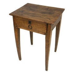 Small Antique French Walnut Side Table