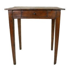 Antique French Small Pine Side Table