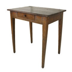 Antique French Chestnut End Table