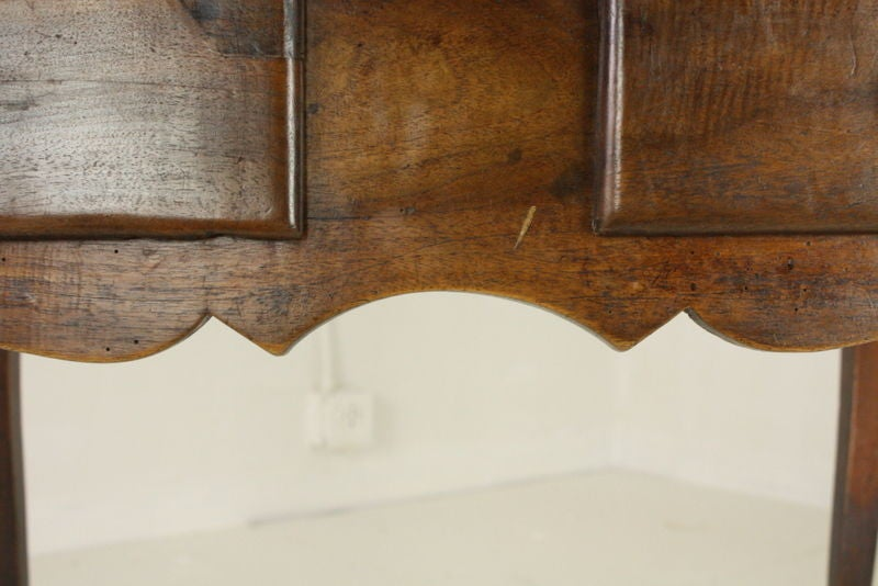 Louis XV Two-Drawer Walnut Side Table In Good Condition For Sale In Port Chester, NY