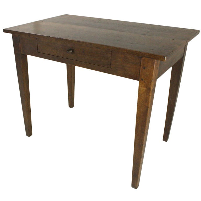French antique walnut side table one drawer at 1stdibs for 1 drawer table
